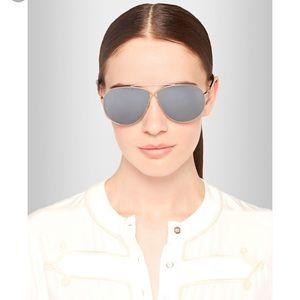 Tom Ford Eva Aviator Sunglasses Blue with Gold 61
